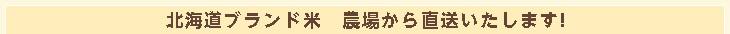 北海道ブランド米 農場から直送いたします!