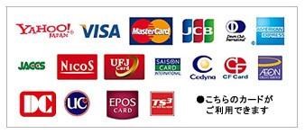 使用可能クレジトカード