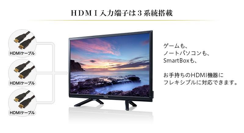 [24V型] 地上・BS・110度CSデジタル 液晶テレビ ピクセラ フルハイビジョン 【送料無料】 PIX-24VL100