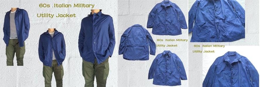 スプリング ジャケット イタリア軍 ユーティリティジャケット  1960s Italian Military Utility Jacket ヴィンテージ ワークジャケット メンズ レディース