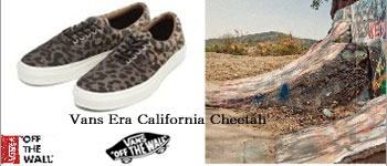 バンズ エラ カリフォルニア BLACK/CHEETAH チーター柄 メンズ ブラック