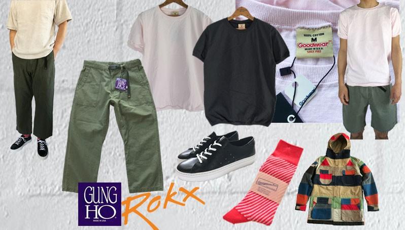 スプリング サマー ミリタリー Tシャツ Military ヴィンテージ メンズ レディース メンズ パンツ ファティーグパンツ ベイカーパンツ ROKX ロックス GUNG HO ガンホー ワイドパンツ