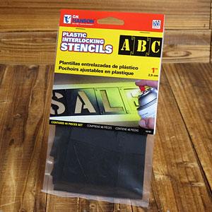 ステンシル(プラスチック製)46ピース/1インチ(約2.5cm)