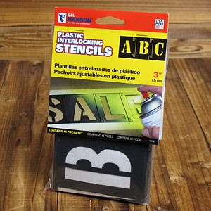 ステンシル(プラスチック製)46ピース/3インチ(約7.5cm)