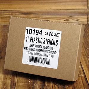 ステンシル(プラスチック製)46ピース/4インチ(約10cm)
