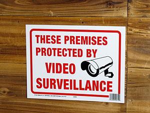 サインプレート(案内板)/敷地内はビデオ監視中です2