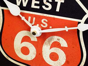 ルート66(ROUTE66)掛け時計/ブラック2