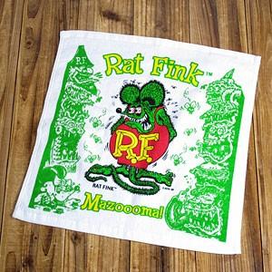 ラットフィンク(RAT FINK)ハンドタオル/グリーン1