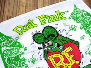 ラットフィンク(RAT FINK)ハンドタオル/グリーン2
