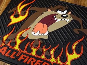 タズマニアンデビル/カーマット(ラバーマット)/ALL FIRED UP/後部座席用2