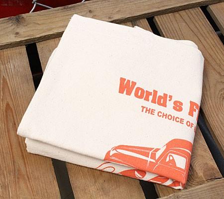 スナップオン(Snap-on)トートバッグパネルトラックオレンジの折り畳み
