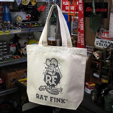 ラットフィンク(Rat Fink) トートバッグ コットンキャンバス ナチュラル1