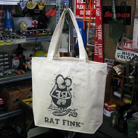 ラットフィンク(Rat Fink) トートバッグ コットンキャンバス ナチュラル2