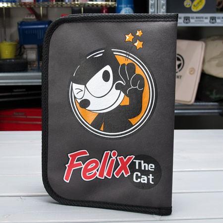 フィリックス・ザ・キャット 車検証入れ FELIX THE CAT グレー