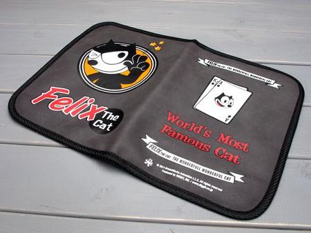 フィリックス・ザ・キャット 車検証入れ FELIX THE CAT グレーの裏表