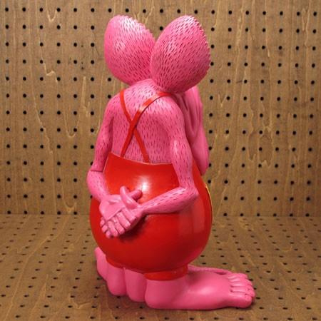 ラットフィンク(RAT FINK) フィギュア オールドビッグスタチュー ピンク2