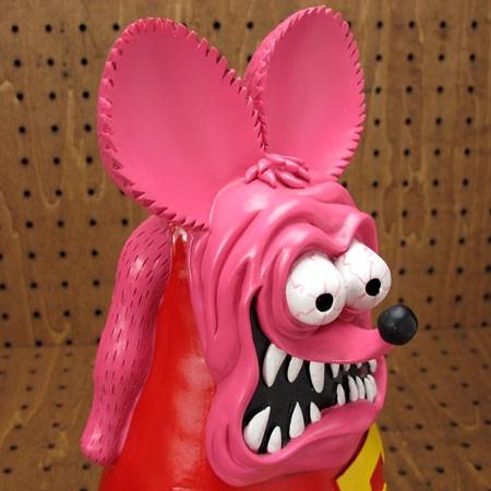 ラットフィンク(RAT FINK) フィギュア オールドビッグスタチュー ピンク3