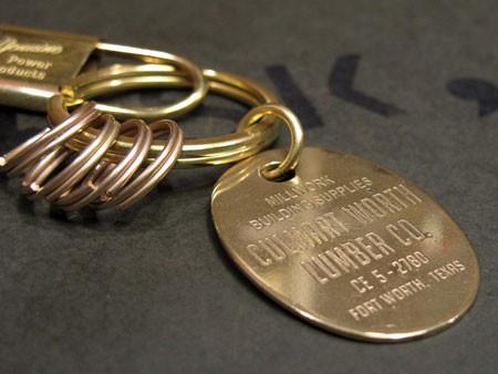 ブラス(真鍮)キーホルダー キーフック2