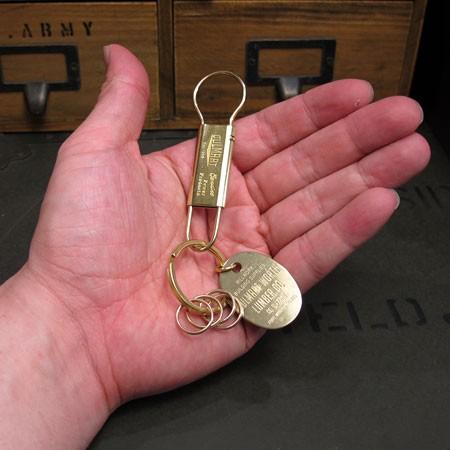 ブラス(真鍮)キーホルダー キーフック4