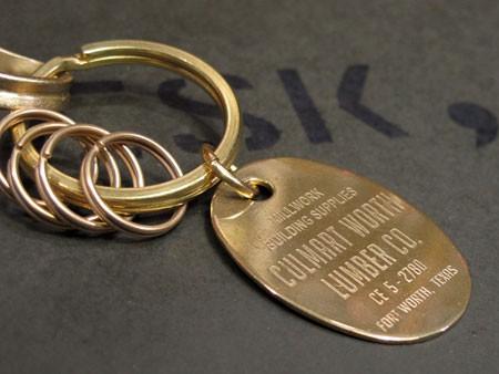 ブラス(真鍮)キーホルダー スプリング2
