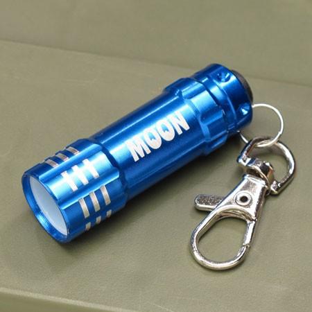 ムーンアイズ LEDライトキーホルダー MOONEYES ブルー