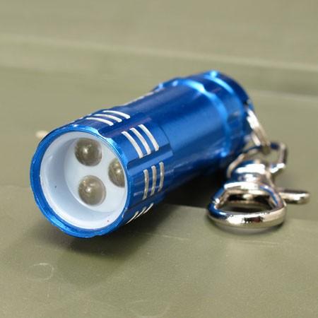 ムーンアイズ LEDライトキーホルダー MOONEYES ブルーのレンズ