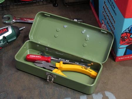 マーキュリー(MERCURY) ミニツールボックス(工具箱) グリーンの使用例