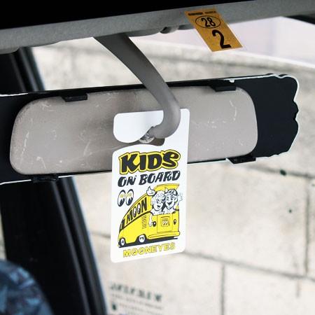 ムーンアイズ パーキングパーミット KIDS ON BOARDの使用例