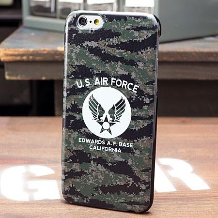 ミリタリーiPhone6/6Sケース(カバー) U.S.エアフォース(アメリカ空軍) デジタルカモフラージュ