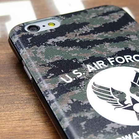ミリタリーiPhone6/6Sケース(カバー) U.S.エアフォース(アメリカ空軍) デジタルカモフラージュの上部