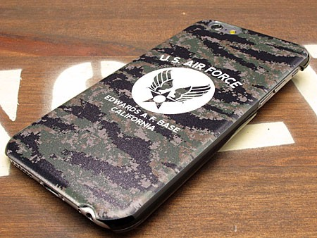 ミリタリーiPhone6/6Sケース(カバー) U.S.エアフォース(アメリカ空軍) デジタルカモフラージュの下部