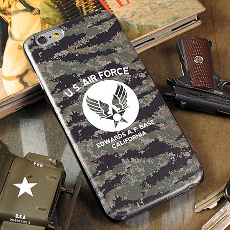 ミリタリーiPhone6/6Sケース(カバー) U.S.エアフォース(アメリカ空軍) デジタルカモフラージュの使用例