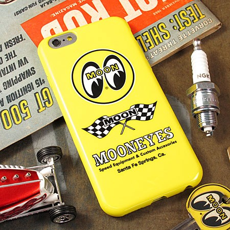 ムーンアイズ iPhone6/6Sケース(カバー) MOONEYES ソフトジャケットの使用例