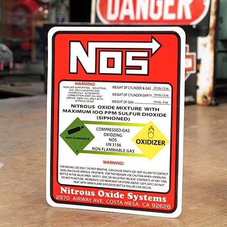ステッカー NOS(ノス) WARNING ラベル サイズS