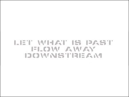 アメリカンミリタリーステンシル転写ステッカー 「過ぎたことは水に流せ」の詳細