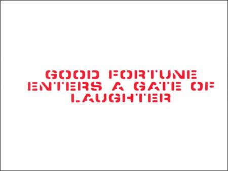 アメリカンミリタリーステンシル転写ステッカー 「笑う門には福来たる」の詳細