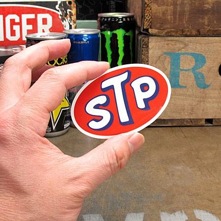 ステッカー STP OILのサイズ