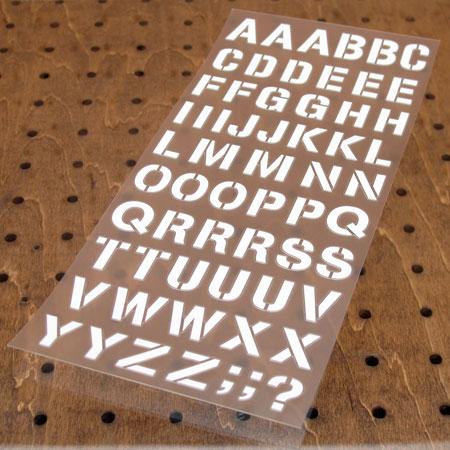 アルファベットステンシル転写ステッカー63Pセット ホワイト1