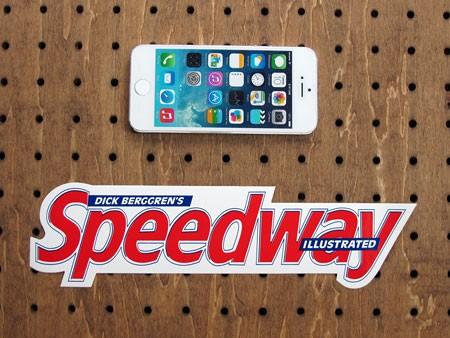 アメリカンマガジンブランドステッカー スピードウェイ(Speedway)の大きさ