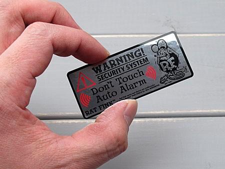 ラットフィンク セキュリティー(防犯)ステッカー RAT FINK のサイズ
