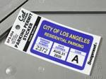 パーキングパーミットステッカー ロサンゼルス市