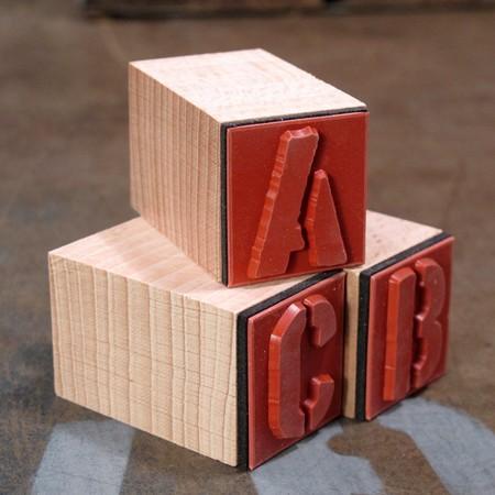 ステンシルアルファベットスタンプ 42Pセット サイズL3