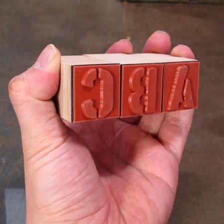 ステンシルアルファベットスタンプ 42Pセット サイズL4