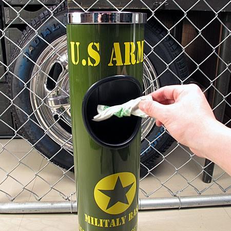 ミリタリースタンド灰皿 U.S.アーミー(アメリカ陸軍)のごみ箱