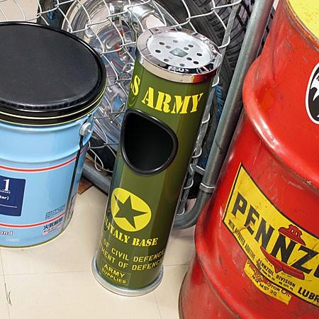 ミリタリースタンド灰皿 U.S.アーミー(アメリカ陸軍)の使用例