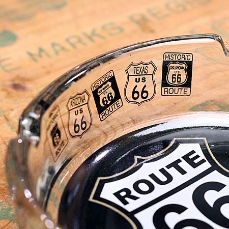 ルート66(ROUTE66) 灰皿 ガラス製のサイド