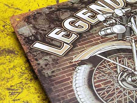 アメリカンインテリアプレート アメリカンバイク LEGENDS NEVER DIE2