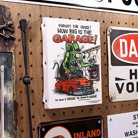 ラットフィンク ポスター キャンバスパネル Rat Fink GARAGE サイズSの使用例