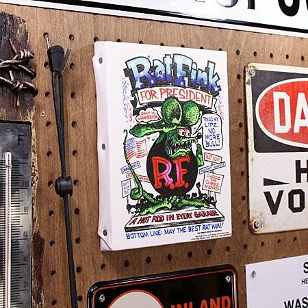 ラットフィンク ポスター キャンバスパネル Rat Fink PRESIDENT サイズSの使用例