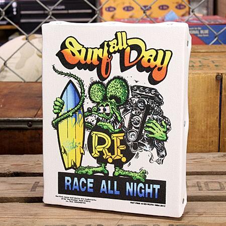 ラットフィンク ポスター キャンバスパネル Rat Fink SURF ALL DAY サイズS